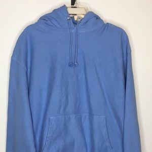 Champion Reverse Weave Hoodie Sweatshirt Blue XL